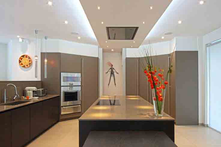kitchen remodeling led lighted suspended ceiling